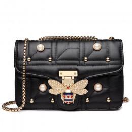 2020 marki projektant kobiet ramię łańcuch torby pasek Flap skórzane damskie torebki torba kobiety Clutch Bag bee Buckle torebka