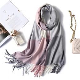 2020 ciepły zimowy szalik dla pani mody plaid kaszmirowe chustki damskie szale i okłady grube wysokiej jakości pashmina szyi chu