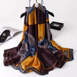 Lato jesienne szale kobiety szal damskie nakrycie jedwabny szalik plażowy miękki krem do opalania chustka szyfonowa pareo foular