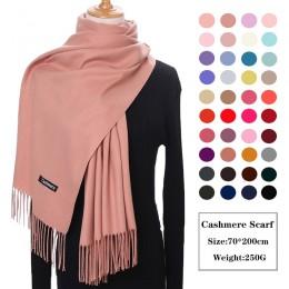 Kaszmirowy damski szal Unisex grube ciepłe zimowe szaliki Femme Pashmina chustka wełna Stole szyi długi dżentelmen szaliki bizne