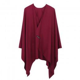2019 nowych moda Cashmere zima kobiety Poncho szaliki kobiety solidny szal Cape Foulard Femme Pashmina kobieta Bufanda Mujer Sja