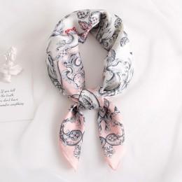 2019 nowy jedwab szalik plac kobiety moda praca neckerchife wiosna lato dekoracyjne szaliki 70*70cm małe szaliki prezent dla pan