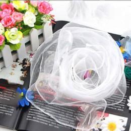 Sparsil kobiety lato wiosna przezroczysty kwadratowy szalik jednolity kolor nakrycia głowy cienkie szaliki szyfonowe moda Organz