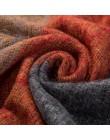 Gruby ozdobny szal damski młodzieżowy dla kobiet na szyję ciepły w kratę zimowy jesienny oryginalny modny
