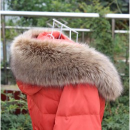 Qearlstar kobiety zimowy szalik ze sztucznego futra luksusowe miękkie kurtki kaptur futro wystrój mężczyźni dzieci futro kołnier