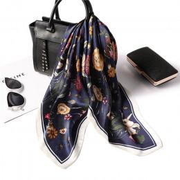 Projektant marki kobiety szalik moda 2020 kwiat wydruku szale jedwabne kwadratowe małe chusteczki biuro szyi szaliki włosów 70*7