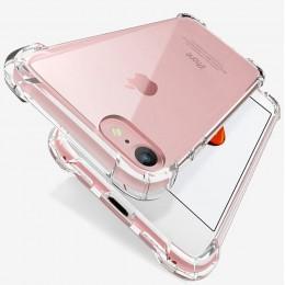 Luksusowe, odporna na wstrząsy silikonowe etui na telefony dla iPhone 7 8 6 6S Plus 7 Plus 8 Plus XS Max XR 11 Case przezroczyst