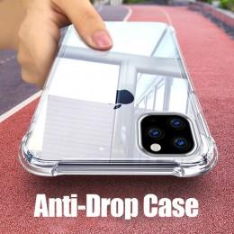 Miękka przezroczysta silikonowa obudowa dla iPhone 11 2019 na iPhone Pro Max odporna na wstrząsy przezroczysta obudowa tpu pokry