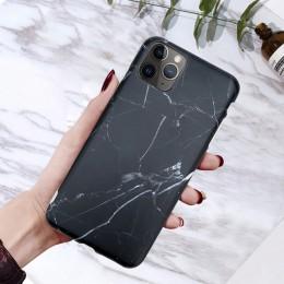 Moskado etui na telefon iPhone 6 6s 7 8 Plus luksusowy błyszczący granit marmurowy pokrowiec teksturowy na iPhone 11 Pro X XS Ma