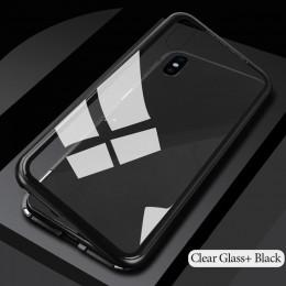 GETIHU metalowy futerał magnetyczny + szkło hartowane magnes skrzynki pokrywa dla iPhone 11 Pro Max XR XS MAX X 8 7 6 s 6 s Plus