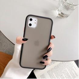 Miętowy hybrydowy prosty matowy zderzak etui na telefon Iphone 11 etui Pro Max Xr Xs 6s 8 7 Plus odporny na wstrząsy miękki Tpu