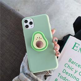3D luksusowe słodkie owoce w stylu kreskówki awokado miękkiego silikonu etui dla iphone'a x XR XS 11 Pro Max 6S 7 8 plus pokrywa