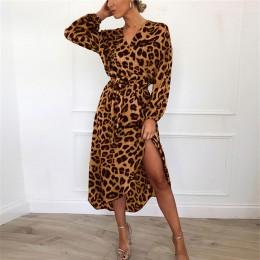 Sukienka w prążki 2019 kobiet szyfonowa długa plaża sukienka luźna z długim rękawem głębokie dekolt w szpic linia Sexy Party Dre