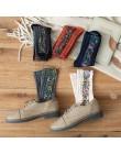 Skarpety damskie bawełniane Euramerican w stylu etnicznym kwiaty jesienne i zimowe damskie skarpety ciepłe i słodkie 2019 New Fa