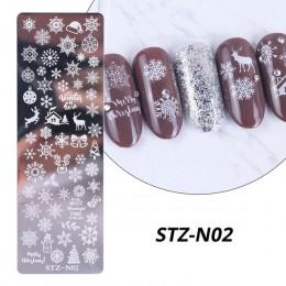 Liście róży paznokci płytka do stemplowania wiosenny kwiat liść biżuteria obraz geometryczny polski szablon szablon Nail Art Mol