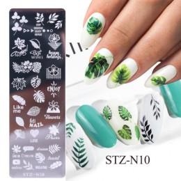 1 sztuk 12x4cm paznokci tłoczenia płyty liść kwiaty motyl kot Nail Art Stamp szablony szablony projekt polski Manicure TRSTZN01-