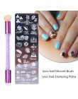 Profesjonalne blaszki ze wzorami do przenoszenia na paznokcie za pomocą stempla nowoczesne