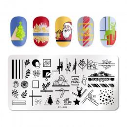 PICT YOU święta bożego narodzenia nowy rok śnieżynka wzór paznokci tłoczenia płyty paznokci tabliczka dekoracyjna wzornik projek