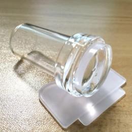 Salon paznokci nowy 1 zestaw 2.3cm czysty wyczyść stempel do paznokci żelowych skrobak zestaw silikonowy Marshmallow paznokci sz