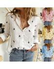 Damski nadruk z ptakami 35% bawełny z długim rękawem bluzki damskie 2020 wiosna lato luźna na co dzień biurowa, damska koszula P