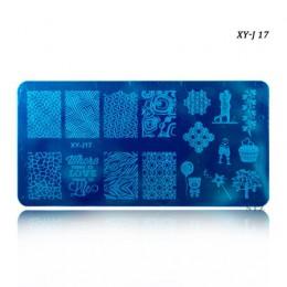 12x6cm 16 wzory kwiat Cartoon koronki DIY polski tłoczenie pieczątka na paznokcie szablony Manicure szablony do paznokci transfe