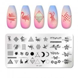 PICT YOU płytki do tłoczenia paznokci kolekcja tropikalna pieczątka na paznokcie szablony DIY płytka z obrazkiem narzędzie do pr