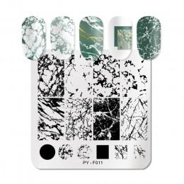 PICT You wzory zwierzęce płytki do tłoczenia paznokci ze stalowymi ćwiekami Art płytka z obrazkiem Stamp szablon narzędzia PY-F0