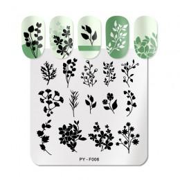 PICT YOU naturalne rośliny lawendowe stemple do paznokci kwiaty wzory pieczątki obrazki zdobienia na paznokcie szablony wzornik