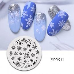 PICT YOU płytki do tłoczenia paznokci śnieg zima pieczątka na paznokcie szablon projekt płytka z obrazkiem szablony ze stali nie