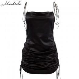 Macheda moda damska solidne paski spaghetti Backless bez rękawów seksowne sukienki dół długość regulowana damska Casual Dress Ne