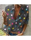 NIBESSER 2019 nowych kobiet bluzka topy kobiety praca biuro nadruk w kropki bluzka koszula Casual koszula z długim rękawem bluzk