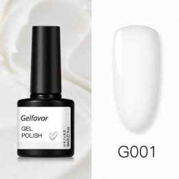 Gelfavor lakier żelowy hybrydowy żelowy lakier do paznokci zestaw do Manicure do paznokci Semi platinum lampa UV LED one step że