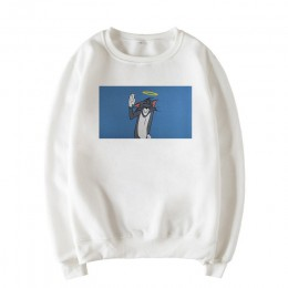 Kot zima nowe napisy mysz bluza z nadrukiem kobieta Harajuku z długim rękawem luźna kreskówka parodia zabawna bluza w stylu casu