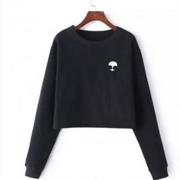 ET Aliens nadrukowane bluzy bluzy harajuku bluzy z okrągłym dekoltem kobiety odzież Feminina luźna krótka bluza z polaru bluzy c