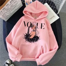 Śmieszne księżniczka VOGUE różowa bluza z kapturem Hip Hop kobiety Streetwear ubrania damskie bluzy swetry Harajuku 90s Ullzang