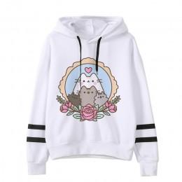 Bluza z kapturem z motywem kota moda damska cartoon koreański harajuku różowy kobiecy styl kawaii 90s odzież bluza z kapturem po