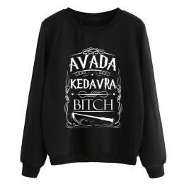 Hipster swetry z polaru damskie dresy dropship hip-hop lady casual o-neck bluzy Avada Kedavra suka bluza 2019 jesień
