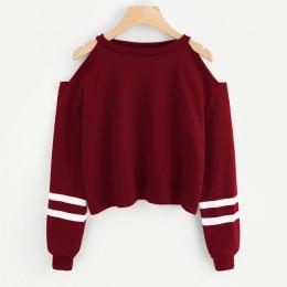 JAYCOSIN bluzy i swetry damskie litery z długim rękawem kobiet bluza z kapturem bluzki moda bluza w stylu casual moletom feminin