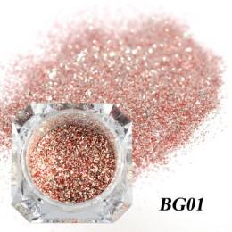 1Box holograficzny platynowy Nail Art Glitter Mix płatki świecący cekiny Manicure pył Laser srebrny złoto w proszku żel dekoracj