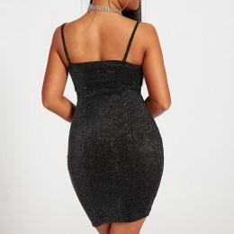 Chrleisure seksowna sukienka klubowa letnia szczupła damska Mini obcisła sukienka cienki pasek na ramię krótka sukienka damska