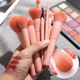 10 sztuk drewniane fundacja kosmetyczne brwi pędzel do cieni do powiek zestawy pędzli do makijażu wielofunkcyjny kosmetyk szczot