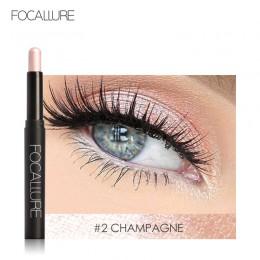 FOCALLURE 12 kolorów cień do powiek naklejki kosmetyki cień do powiek ołówek wyróżnienia Shimmer makijaż oczu cień do powiek eye