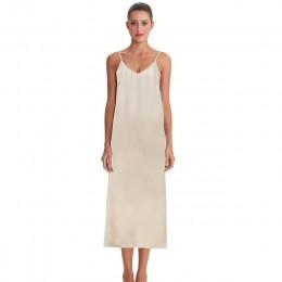 Wysokiej jakości sukienka dla kobiet letnia sukienka spaghetti satynowy bardzo miękka gładka M30262