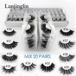 Hurtownie 3d mink fałszywe rzęsy 20/30/40/50/100 pairs fluffy wispy sztuczne rzęsy naturalny długi makijaż wydłużająca rzęsy luz