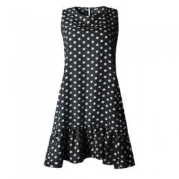 Rozkloszowana spódnica sukienka wzburzyć kobiety 2019 wiosna lato ulica Sexy Casual Slim cienka impreza na plaży O szyi Mini suk
