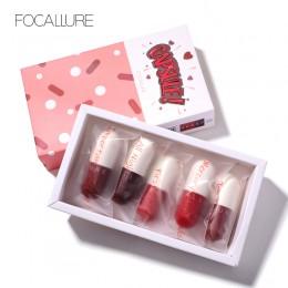 FOCALLURE Mini matowa szminka wodoodporna czerwona brązowa aksamitna trwała matowa szminka wodoodporny zestaw kobiet usta maquia