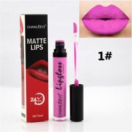 8 kolorów Sexy Fashion szminka w płynie 24 godziny długotrwały makijaż matowy błyszczyk czerwony fioletowy aksamitny Pigment bły