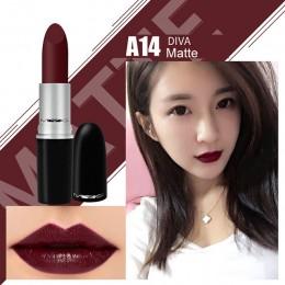 Najwyższej jakości MYG matowa szminka profesjonalny makijaż ust z długim trwała szminka wodoodporna czerwony, cielisty ruby woo