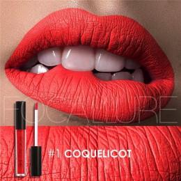 FOCALURE marka Pro makijaż wodoodporna szminka w płynie batom odcień czerwony aksamit prawdziwy brązowy Nude matowy szminka kolo