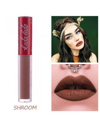 KADALADO marka makijaż wodoodporny Nude szminka długotrwały płyn matowy kredka do ust błyszczyk kosmetyki błyszczyk makijaż ust